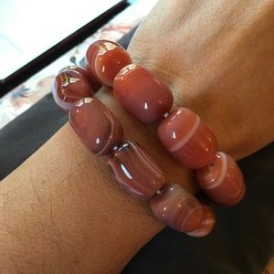 Orange Botswana Agate Barrell Bracelets (2 avail.)